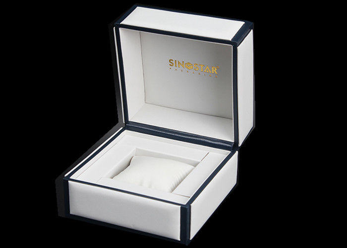 Luxury Wrist Watch Storage Box , Empty White / Black Female Watch Box Eco - friendly