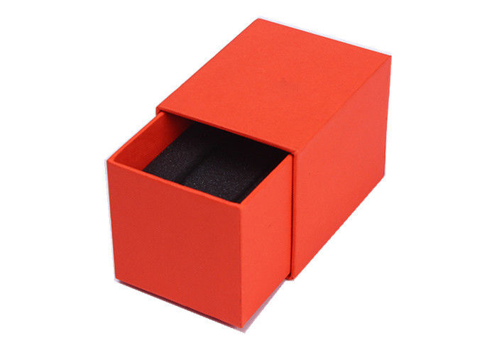 Empty Cardboard Watch Box With Pillow , High Grade Ladies Red Watch Case Box
